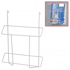 Лоток навесной для стоек ПАРУС, формат А4, 300х225х40 мм, проволочный, хром, 290445