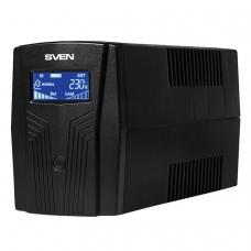Источник бесперебойного питания SVEN Pro 650, 650VA 390W, 2 евророзетки, 2 розетки RJ45, SV-013844