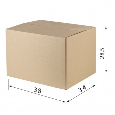 Гофроящик, длина 380 х ширина 304 х высота 285 мм, марка Т23, профиль В, FEFCO 0201 / ГОСТ, исполнение А