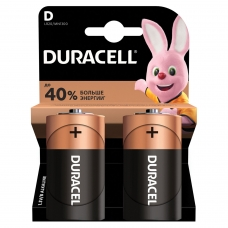 Батарейки DURACELL Basic, D LR20, 13А, алкалиновые, КОМПЛЕКТ 2 шт., в блистере, MN 1300D LR20