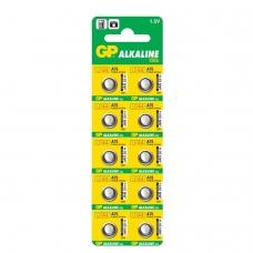 Батарейка GP Alkaline, A76 G13, LR44, алкалиновая, 1 шт., в блистере отрывной блок
