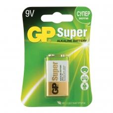 Батарейка GP Super, 'Крона' 6LR61, 6LF22, 1604A, алкалиновая, 1 шт., в блистере, 1604A-BC1