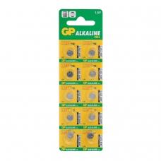 Батарейка GP Alkaline 192 G3, LR41, алкалиновая, 1 шт., в блистере отрывной блок, 4891199015533