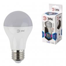 Лампа светодиодная ЭРА, 11 100 Вт, цоколь E27, грушевидная, холодный белый свет, 30000 ч., LED smdA60-10w-840-E27, Б0020533