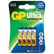 Батарейки GP Ultra Plus, AAA LR03, 24А, алкалиновые, комплект 4 шт., в блистере, 24AUP-2CR4