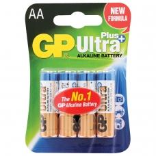 Батарейки GP Ultra Plus, AA LR06, 15А, алкалиновые, комплект 4 шт., в блистере, 15AUP-2CR4