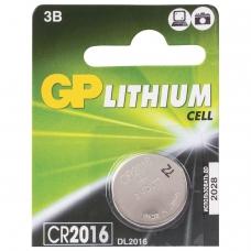 Батарейка GP Lithium, CR2016, литиевая, 1 шт., в блистере отрывной блок, CR2016-7CR5