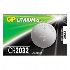 Батарейка GP Lithium, CR2032, литиевая, 1 шт., в блистере отрывной блок, CR2032-7CR5