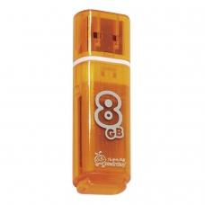 Флэш-диск 8 GB, SMARTBUY Glossy, USB 2.0, оранжевый, SB8GBGS-Or
