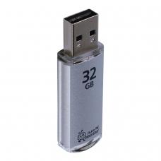 Флэш-диск 32 GB, SMARTBUY V-Cut, USB 2.0, металлический корпус, серебристый, SB32GBVC-S