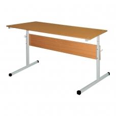 Стол-парта 2-местный, регулируемый, 1200х500х520-640 мм, рост 2-4, серый каркас, ЛДСП бук, Ш-304 2-4