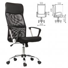Кресло BRABIX 'Flash MG-302', с подлокотниками, хром, черное, 530867
