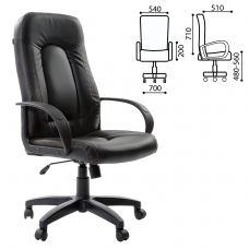 Кресло офисное BRABIX 'Strike EX-525', экокожа черная, 531382