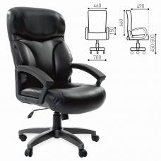 Кресло офисное BRABIX 'Vector EX-559', экокожа 'премиум', черное, 531385