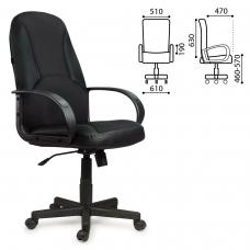 Кресло офисное BRABIX 'City EX-512', кожзаменитель черный, ткань черная, TW, 531407