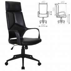 Кресло офисное BRABIX 'Prime EX-515', экокожа, черное, 531569