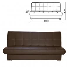 Диван мягкий раскладной 'Модесто', 1900х900х820 мм, экокожа, коричневый