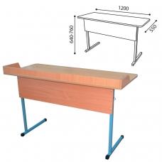 Стол-парта 2-местный регулируемый для кабинета химии, 1200х550х640-760 мм, рост 4-6, металл/ДСП, пластик