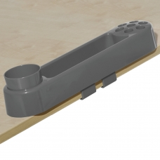 Подставка-органайзер ДЭМИ, большой, 9 отделений, пластик, серый, 88х350х65 мм