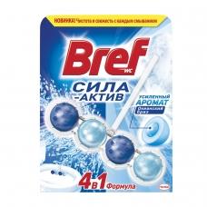 Освежитель WC для туалета твердый BREF, 50 г, Бреф Сила-Актив, 'Океанский Бриз'