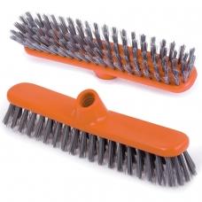 Щетка для уборки скраббер, ширина 27 см, щетина 3,5 см, пластиковая, еврорезьба, IDEA 'Шробер', М 5108