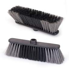 Щетка для уборки, ширина 27 см, щетина 7 см двуцветная, пластик, еврорезьба, IDEA 'Стандарт', М 5101