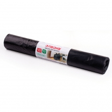 Мешки для мусора 120 л, черные, в рулоне 10 шт., ПНД, 18 мкм, 70х110 см ±5%, прочные, ЛАЙМА, 601386