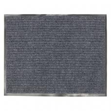 Коврик входной ворсовый влаго-грязезащитный VORTEX, 120х150 см, толщина 7 мм, серый, 22099