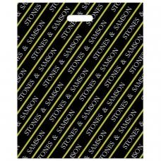 Пакет с вырубной ручкой ПВД, 50х40 см, 'Камни', 45 мкм