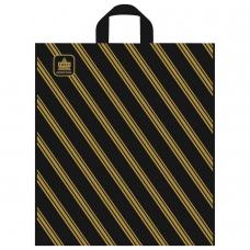 Пакет с петлевой ручкой ПНД, 44х40 см, 'Золотая полоса', 43 мкм