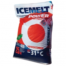 Реагент антигололедный 25 кг, ICEMELT Power, до -31С, натрий + ингибитор коррозии, мешок