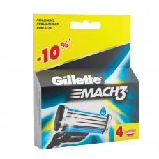 Сменные кассеты для бритья 4 шт., GILLETTE Жиллет 'Mach3', для мужчин