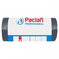 Мешки для мусора 60 л, черные, в рулоне 50 шт., ПНД, 6,2 мкм, 60х80 см, PACLAN 'Professional', 40401