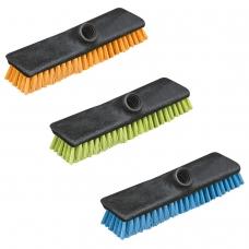 Щетка для уборки скраббер, ширина 24 см, щетина 2,5 см, пластик, еврорезьба, YORK 'Centi Twigi', 43020