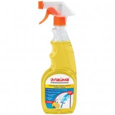 Средство для мытья стекол и зеркал 500 мл, ЛАЙМА PROFESSIONAL 'Лимон', распылитель, 604652
