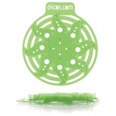 Коврики-вставки для писсуара, ЭКОС POWER-SCREEN, на 30 дней каждый, комплект 2 шт., аромат 'Яблоко', цвет салатовый, PWR-2G
