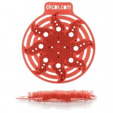 Коврики-вставки для писсуара, ЭКОС POWER-SCREEN, на 30 дней каждый, комплект 2 шт., аромат 'Дыня', цвет красный, PWR-10R