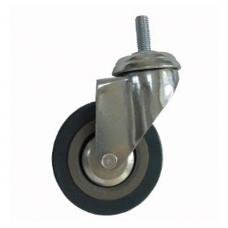 Колеса для уборочной тележки с штоком с резьбой, диаметр 75 мм, КОМПЛЕКТ 4 штуки, BRABIX, 605380