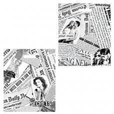 Пакет с вырубной ручкой ПВД, 45х38 см, 'Газетный микс', 60 мкм, н00057259