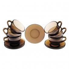 Набор чайный на 6 персон, 6 чашек объемом 220 мл и 6 блюдец, 'Simply Eclipse', LUMINARC, J1261