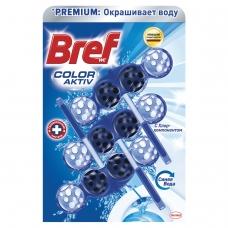Освежитель WC для туалета твердый 3х50 г BREF Бреф Active, 'С хлор-компонентом', 2393778