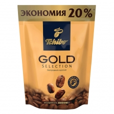 Кофе растворимый TCHIBO 'Gold selection', сублимированный, 150 г, мягкая упаковка