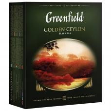 Чай GREENFIELD Гринфилд 'Golden Ceylon', черный, 100 пакетиков в конвертах по 2 г, 0581