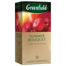 Чай GREENFIELD Гринфилд 'Summer Bouquet', фруктовый малина, шиповник, 25 пакетиков в конвертах по 1,5 г, 0433
