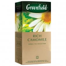 Чай GREENFIELD Гринфилд 'Rich Camomile' 'Ромашковый', травяной, 25 пакетиков в конвертах по 1,5 г, 0432-10