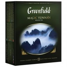 Чай GREENFIELD Гринфилд 'Magic Yunnan' 'Волшебный Юньнань', черный, 100 пакетиков в конвертах по 2 г, 0583-09