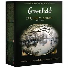 Чай GREENFIELD Гринфилд 'Earl Grey Fantasy', черный с бергамотом, 100 пакетиков в конвертах по 2 г, 0584-09