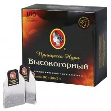 Чай ПРИНЦЕССА НУРИ 'Высокогорный', черный, 100 пакетиков по 2 г, 0201-18-А6