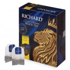 Чай RICHARD Ричард 'Royal Ceylon' 'Роял Цейлон', черный, 100 пакетиков по 2 г, 610601