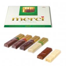 Конфеты шоколадные MERCI Мерси, ассорти из шоколада с миндалем, 250 г, картонная коробка, 014457-20